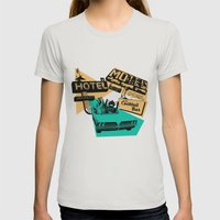 Road Trip Womens Fitted Tee Silver SMALL