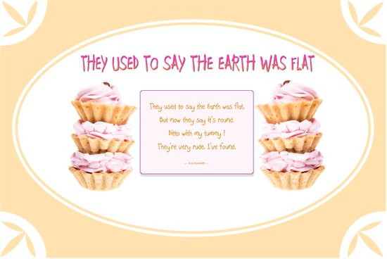 They used to say the Earth was flat Art Print