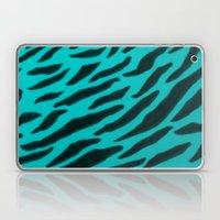 Aqua Zebra Print Laptop & iPad Skin