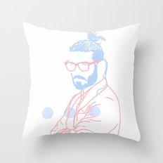 Blue Beard, 2014. Throw Pillow