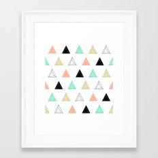 Prism Triangles Framed Art Print