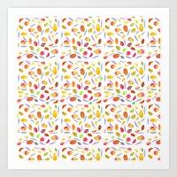 Rosaful Mango pattern Art Print
