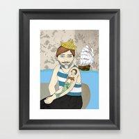 Heart Of Mine Be Still Framed Art Print