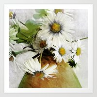 Daisies And Buttercups 2… Art Print