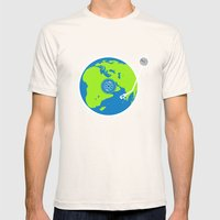 Music Makes The World Go Round Mens Fitted Tee Natural SMALL