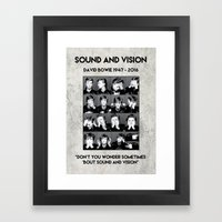Bowie : Sound And Vision Framed Art Print