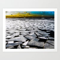 Broken ice floes Art Print