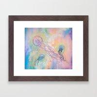Cosmic Jellyfish Framed Art Print