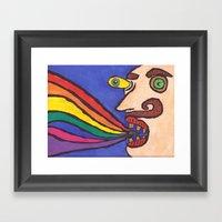 Rainbow. Framed Art Print