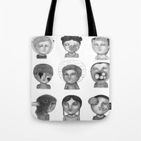 Crazy Heads Tote Bag
