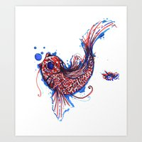 A Coi Fish Art Print