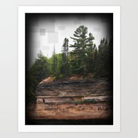 The Rocky Edge Art Print