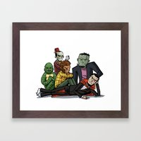 The Universal Monster Club Framed Art Print