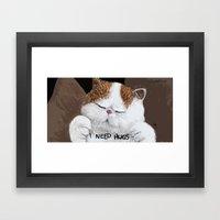 Hugs! Framed Art Print