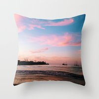 Municipal Beach Throw Pillow
