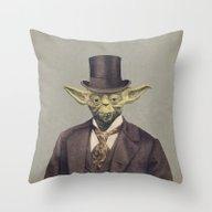 Sir Yodington  Throw Pillow