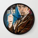 The Tenth Doctor and His TARDIS Wall Clock