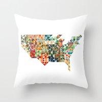 Geometric United States Throw Pillow