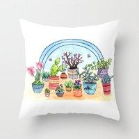 Household Plants Throw Pillow