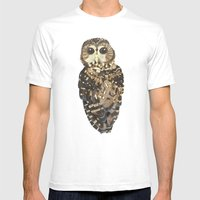 Northern Spotted Owl. Mens Fitted Tee White SMALL