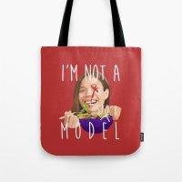 I'm Not A (stock) Model Tote Bag