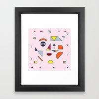 Face Modern (no.2) Framed Art Print