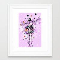 Sweet Dreams Dreamcather Framed Art Print