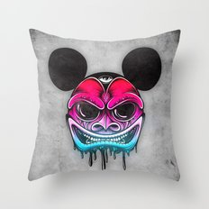 Evil Mickey Throw Pillow