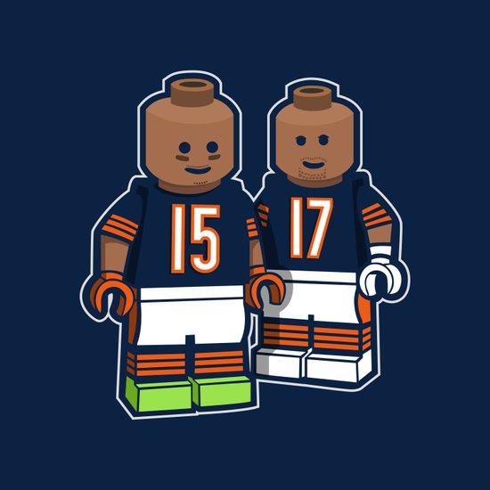 Bears Bricked: Brandon Marshall & Alshon Jeffery Art Print