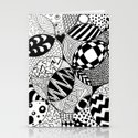Black and White Insanity Stationery Cards