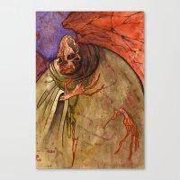 Grandmother Death Canvas Print