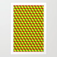 Cubed - Rasta Art Print