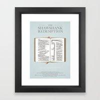 The Shawshank Redemption - minimal poster Framed Art Print