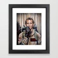 Bill Murray / Ghostbuste… Framed Art Print