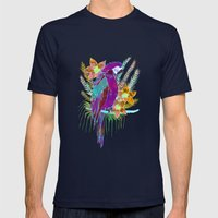 Parrot Elua  - Style A Mens Fitted Tee Navy SMALL