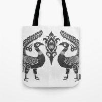 Peacock Symbolism Tote Bag