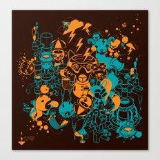Dream Factory Orange and Blue Canvas Print