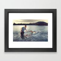 You And Your Imaginary F… Framed Art Print
