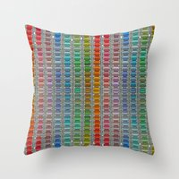 Binary Colours Throw Pillow