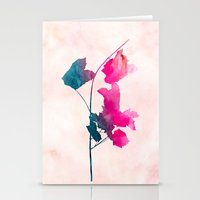 Maple1 Watercolor By Jac… Stationery Cards
