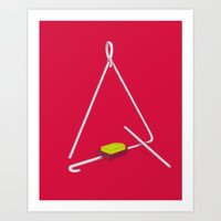 Triangle Hero Art Print