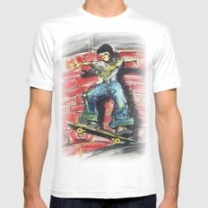 Bust a Move SMALL White Mens Fitted Tee