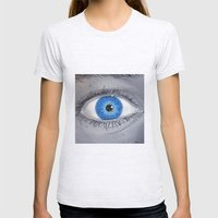 What Are You Looking At? Womens Fitted Tee Ash Grey SMALL