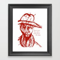 Cowboy Creed Framed Art Print