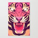 Cool angry tiger Canvas Print