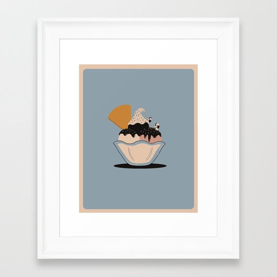 Climbing the Rocky Road Framed Art Print