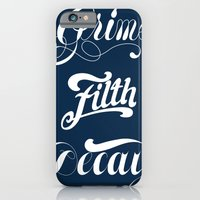 iPhone & iPod Case featuring Grimey Type. by Huxley Chin