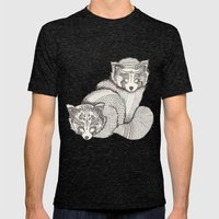 red pandas Mens Fitted Tee Tri-Black SMALL