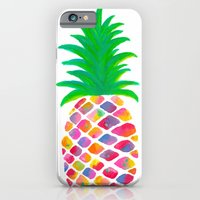 iPhone Cases featuring Pineapple by Lindsay Milgrim