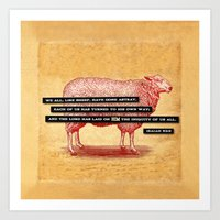 Like Sheep Art Print